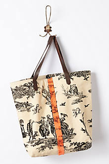 Sequined Toile Tote