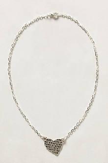 Etched Heart Pendant Necklace
