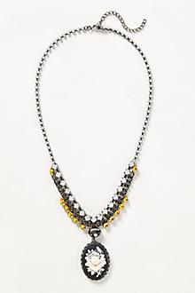Jeweled Cameo Necklace