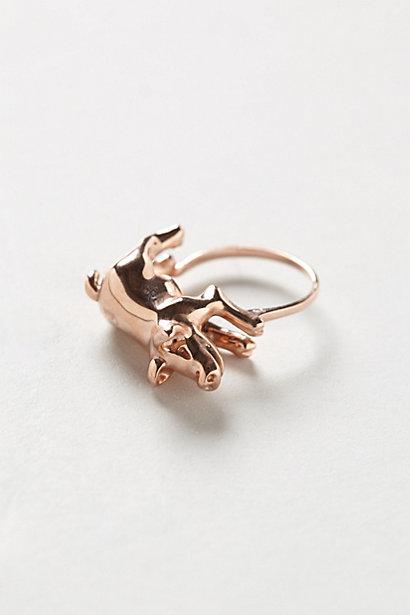 Sale alerts for Anthropologie Rosegold Piglet Ring - Covvet