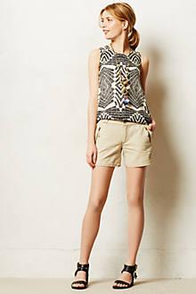 Zipped Linen Shorts