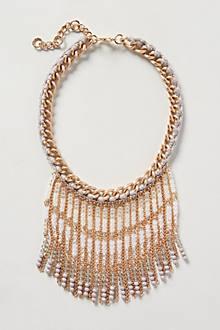 Ecru Fringe Necklace