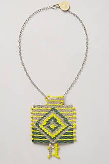 Blanket Weave Pendant Necklace