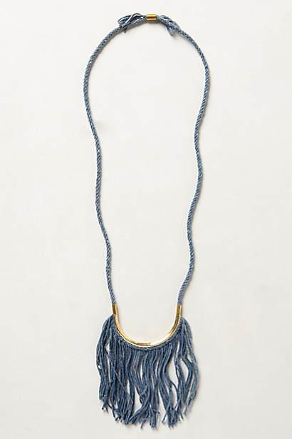 Fringed Indigo Necklace