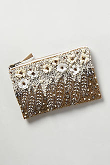 Floral Pearl Pouch