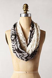 Ikat Crochet Infinity Scarf