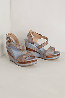 Washed Platform Wedges
