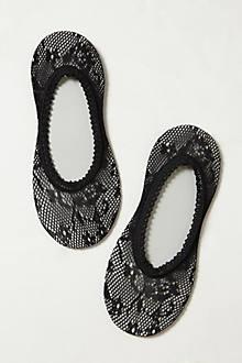Sheer Lace Ped Socks
