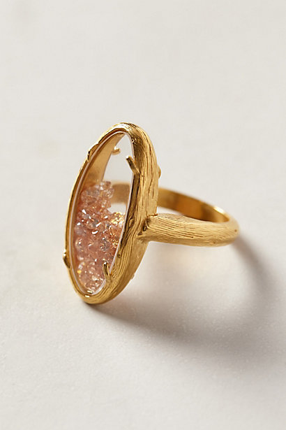 Sale alerts for Anthropologie Champagne Rattle Ring - Covvet