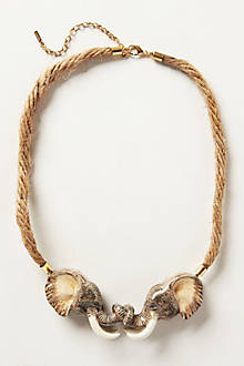 Linked Elephant Necklace