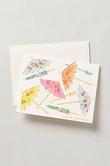 Umbrella Birthday Card
