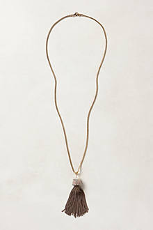 Pyramid Tassel Necklace