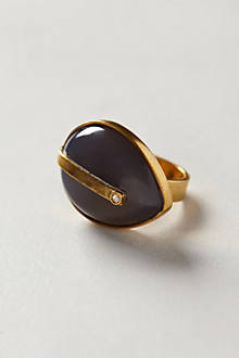 Agate Teardrop Ring