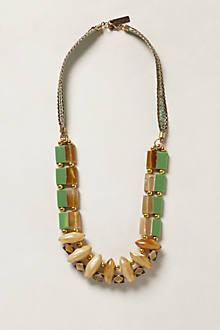 Seafoam Block Bib Necklace