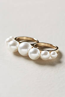 Pearled Two-Finger Ring