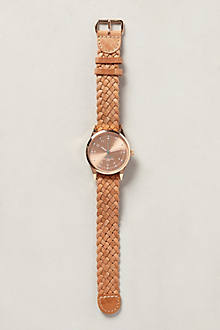 Rosegold Braid Watch