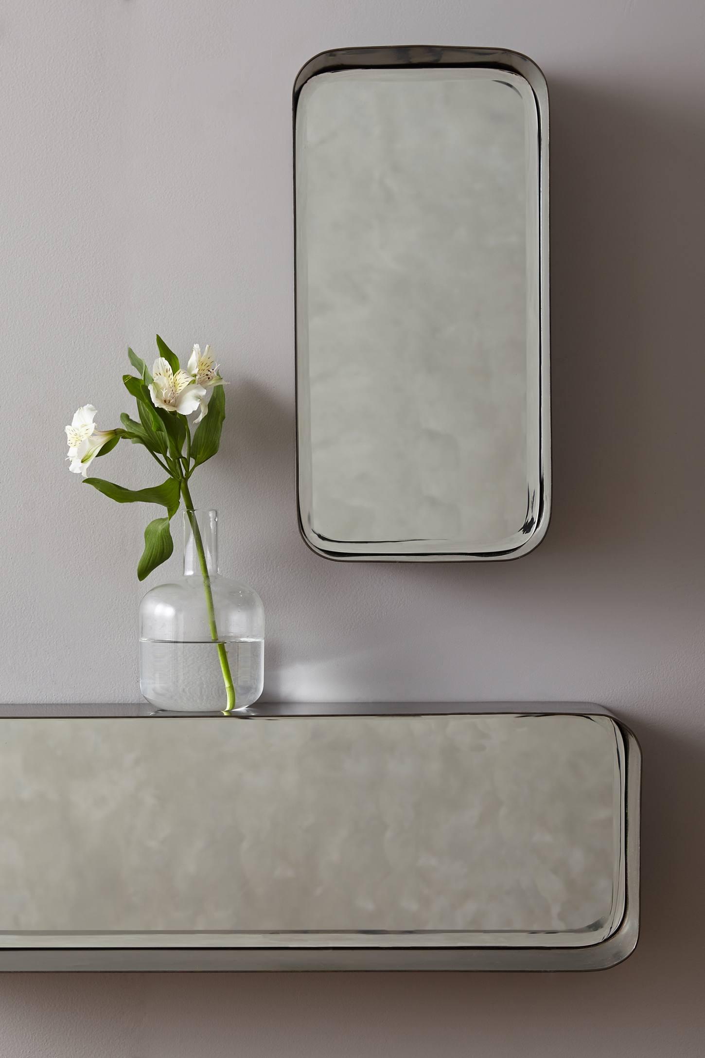 Industrial Mirror Shelf