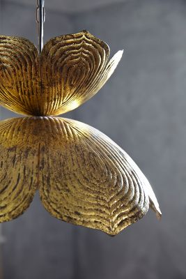 Brass Lotus Pendant Lamp