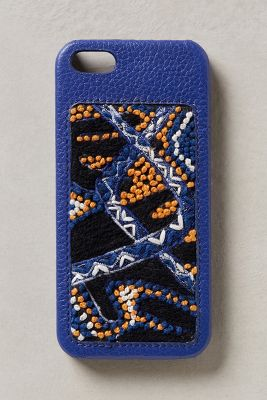 �tui pour iPhone�5 brod� de perles