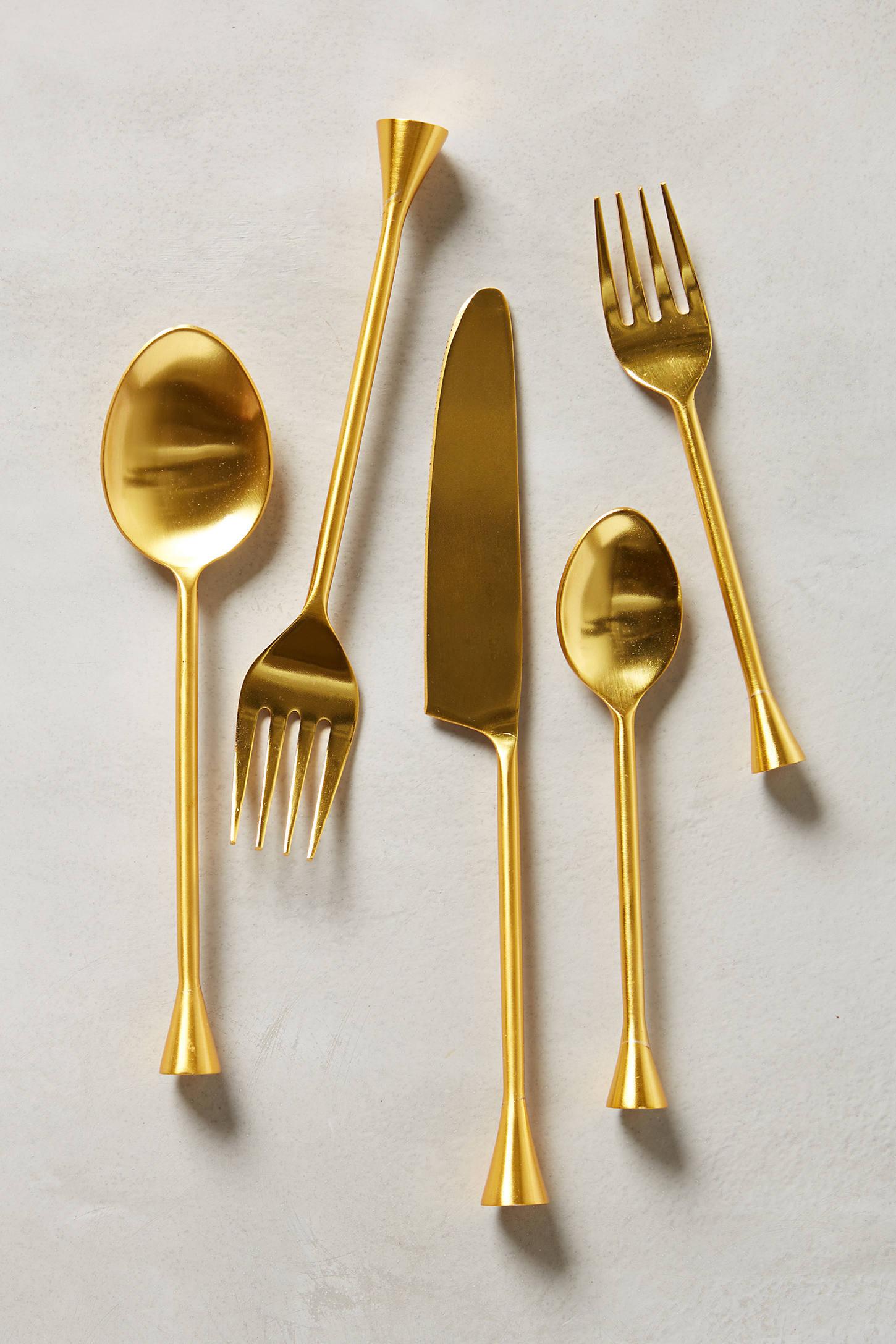 Gilded Cornet Cutlery