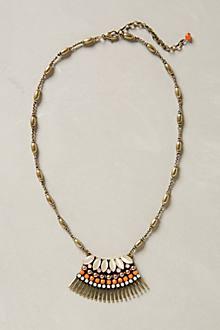 Fanned Carre Pendant Necklace