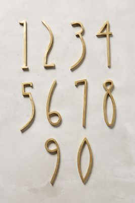 Hand-Welded House Number