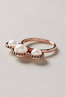 Orbited Pearl Ring