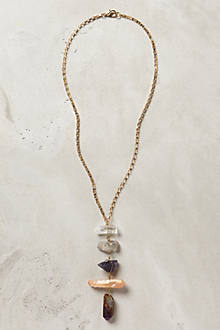 Quartz Ladder Necklace