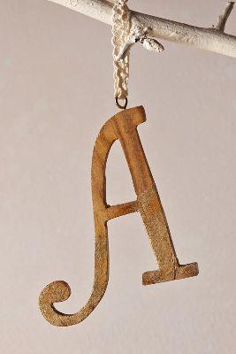 Rustic Monogram Ornament