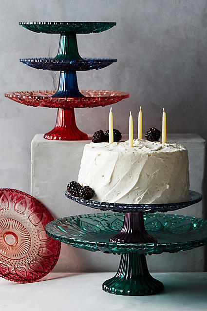 Pretty colored cake stands