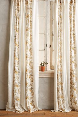 Scrolled Quills Curtain