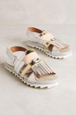 Tsumori Chisato Metallic Kiltie Flatforms