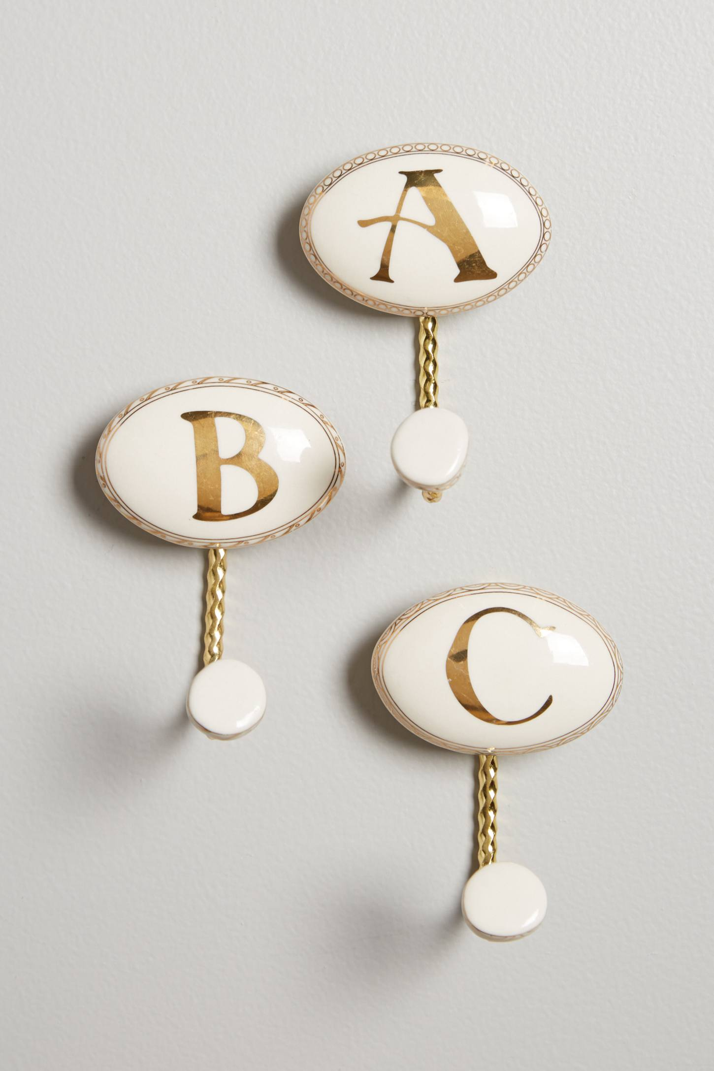 Ceramic Monogram Hook