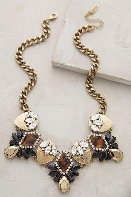 Dorado Crystal Bib Necklace