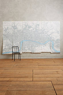 London map mural for Anthropologie wall mural
