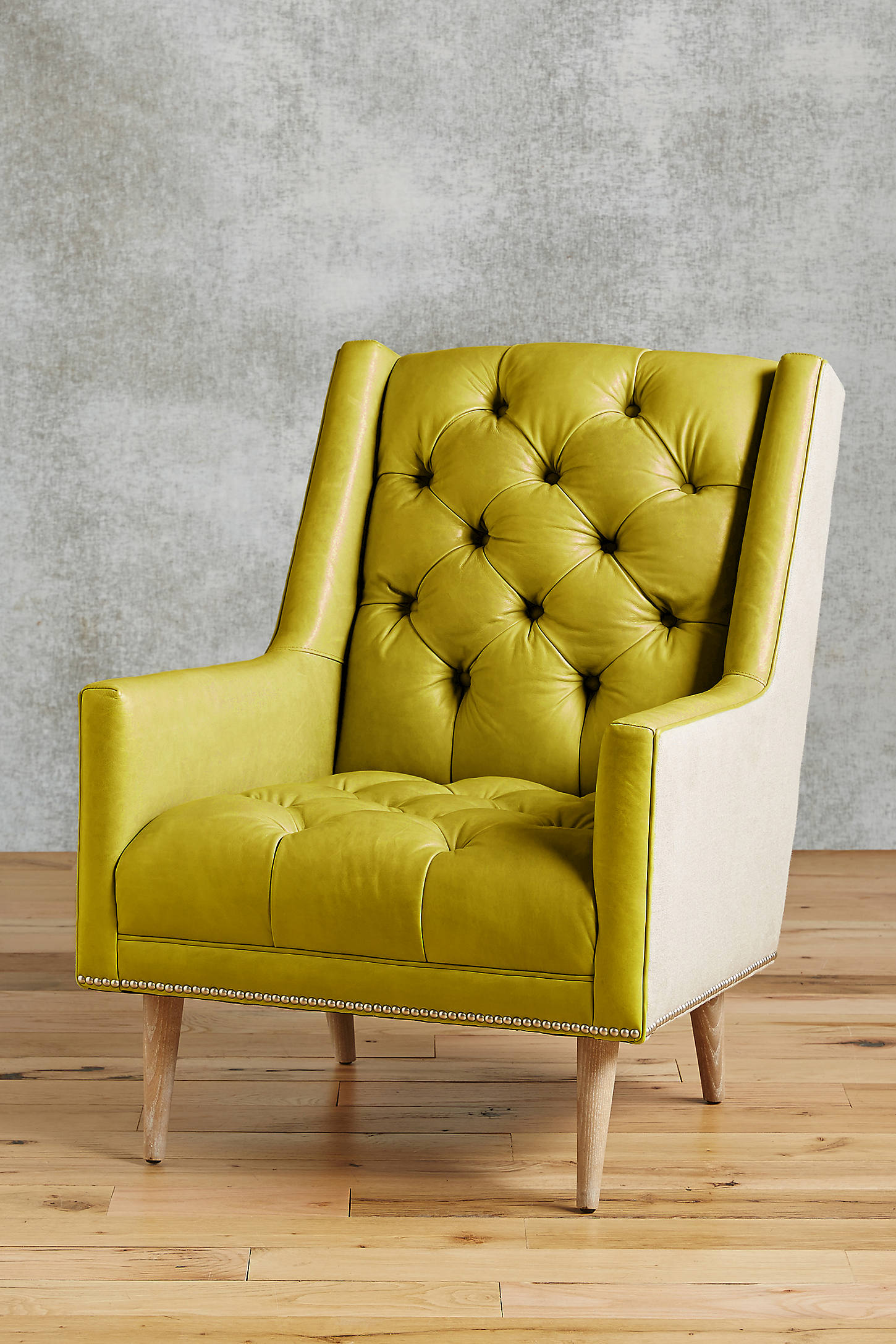Premium Leather & Belgian Linen Booker Armchair
