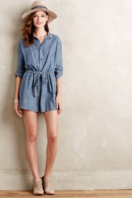 Level 99 Chambray Romper