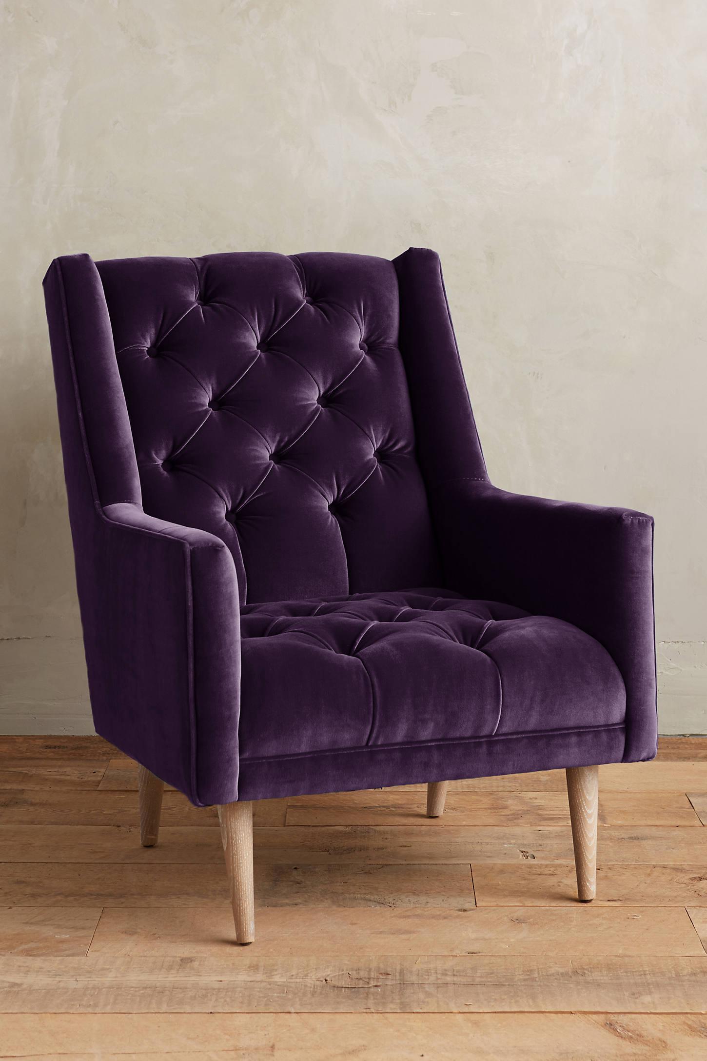 Velvet Booker Armchair