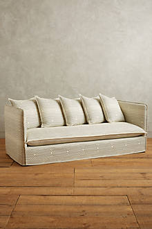 Striped Carlier Slipcover Sofa Anthropologie Com