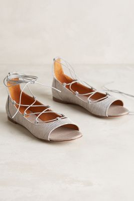 Miss Albright Corset-Laced Flats