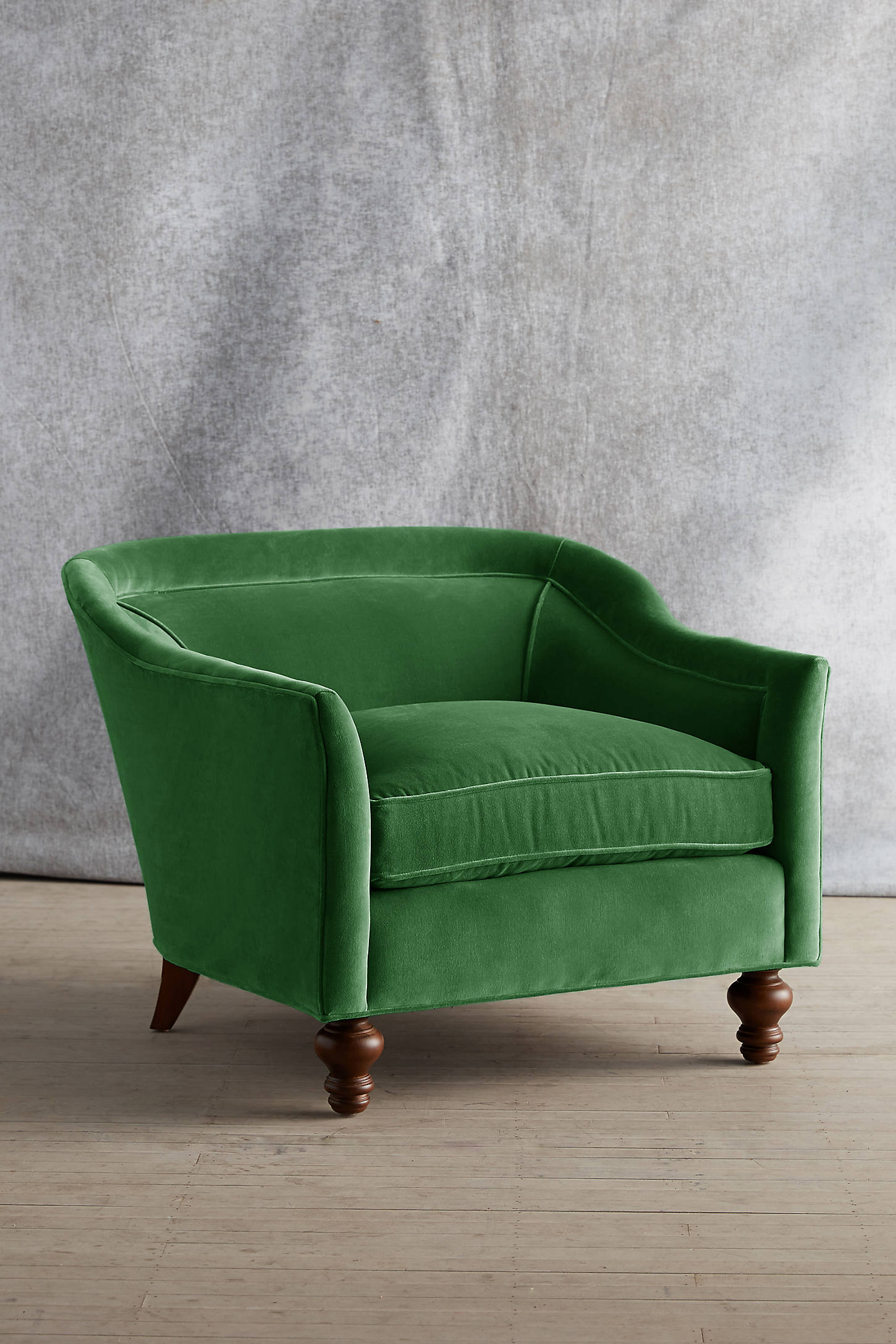 Velvet Holloway Armchair