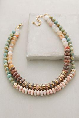 Layered Beadwork Necklace