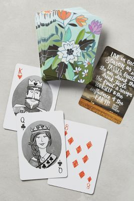 Floral Playing Cards