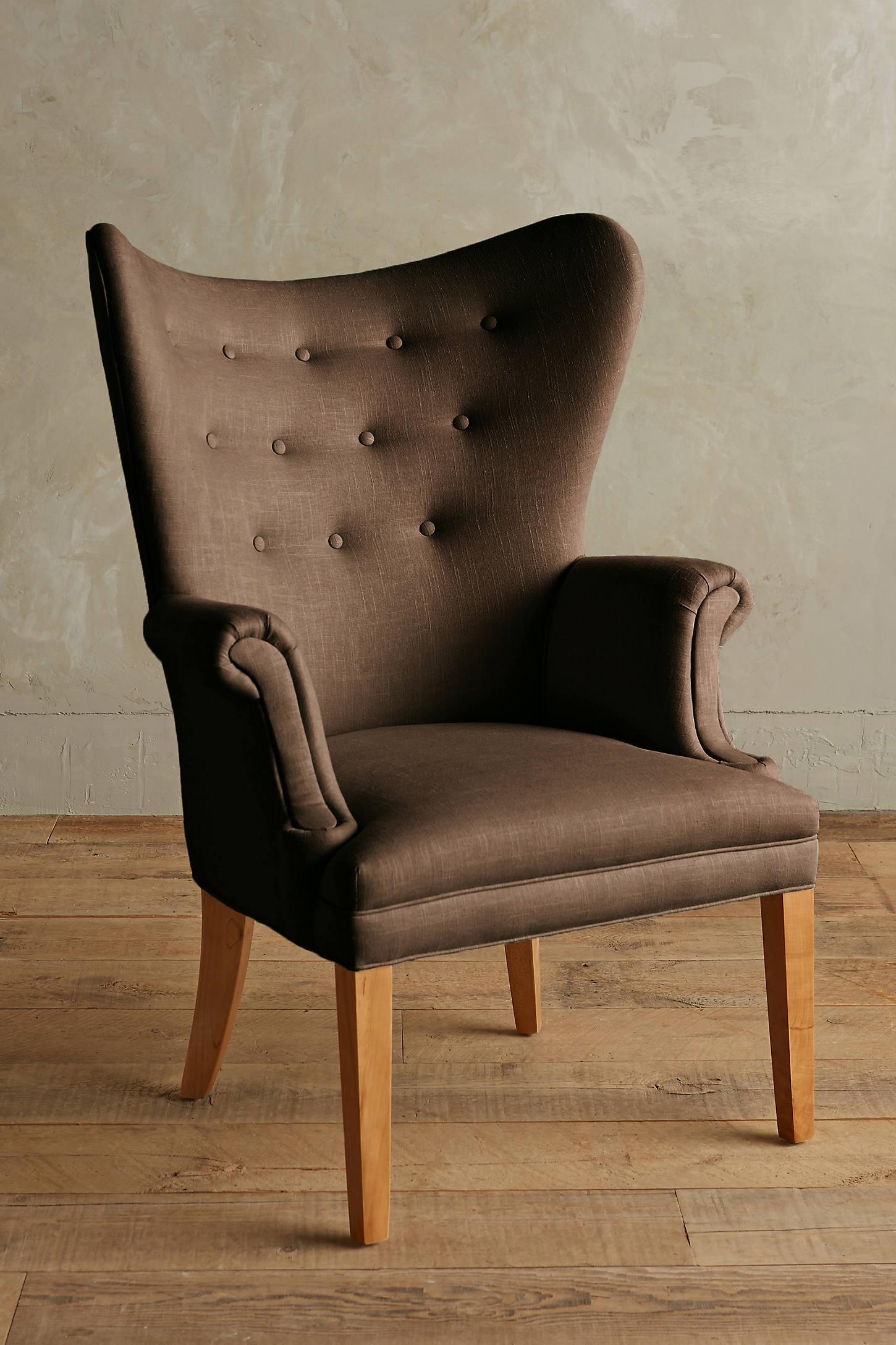Linen Wingback Chair