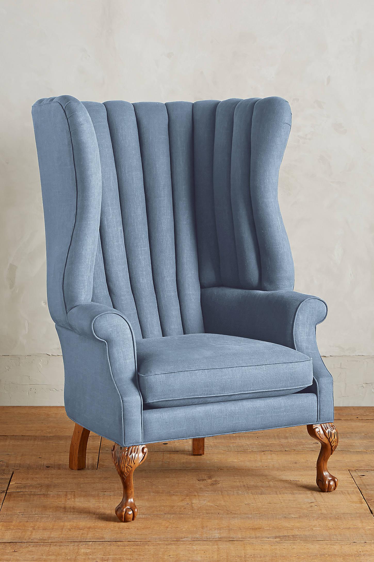 Linen English Fireside Chair
