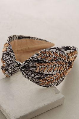 Wood-Stitched Turban Band