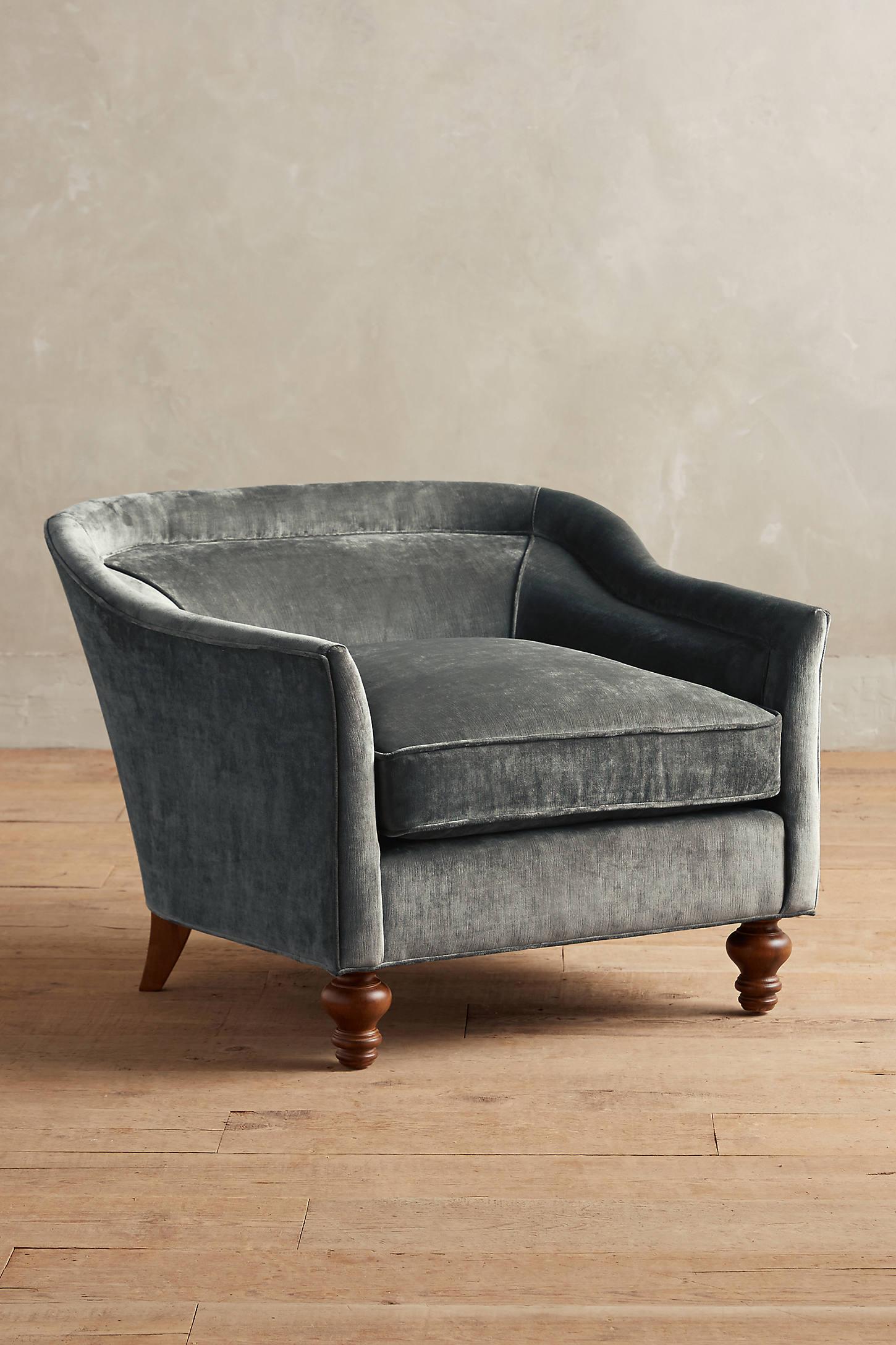 Slub Velvet Holloway Armchair