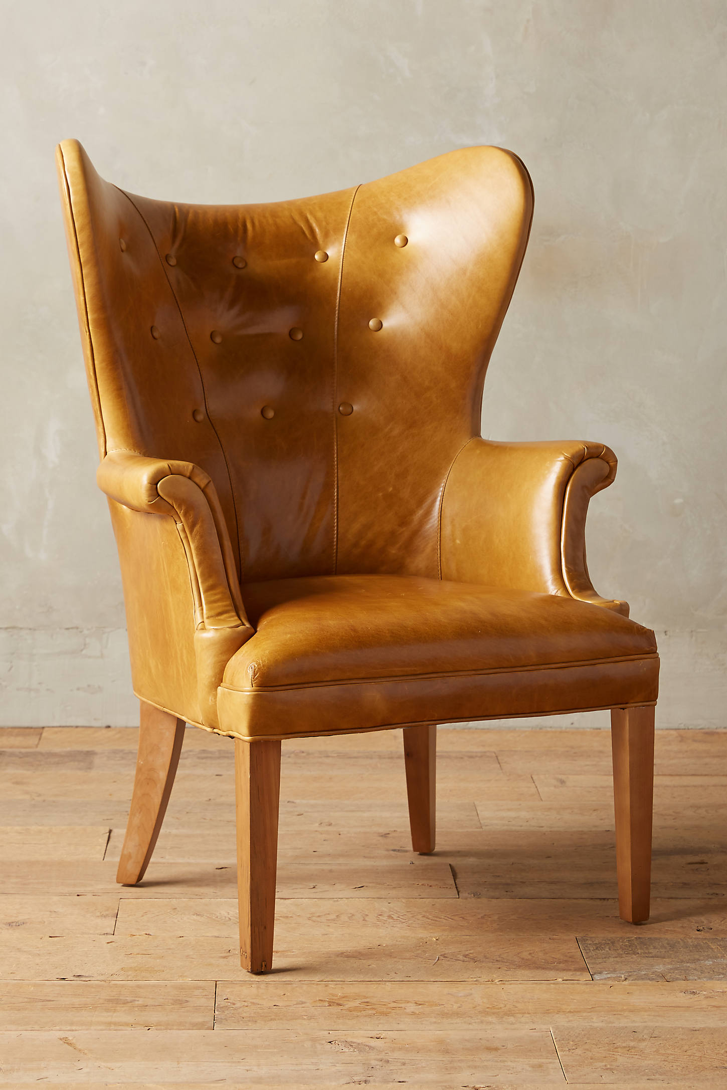 Premium Leather Wingback Chair