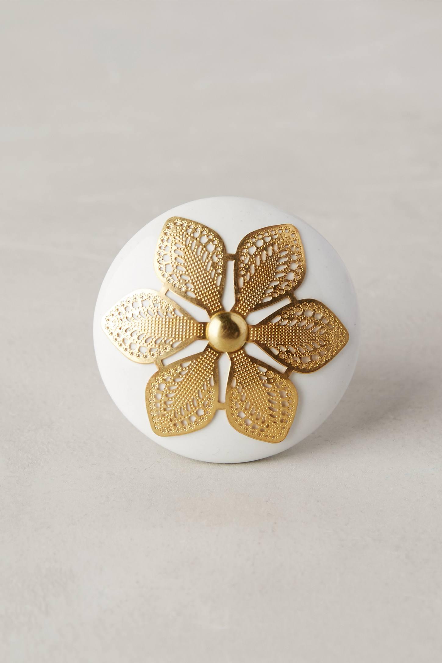 Etched Blossom Knob