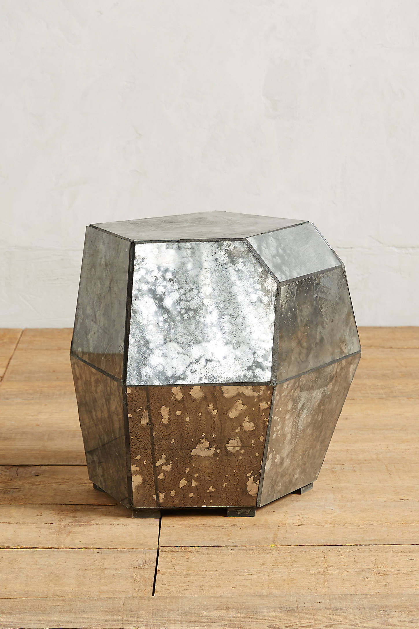 Faceted Mirror Coffee Table